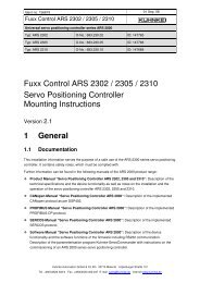 ARS 2302 / 2305 / 2310 instruction leaflet pdf - Kuhnke