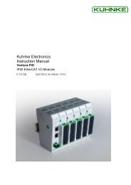 E747GB User Manual Ventura FIO - Kuhnke