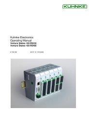 Kuhnke Electronics Operating Manual