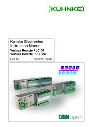 Kuhnke Electronics Instruction Manual