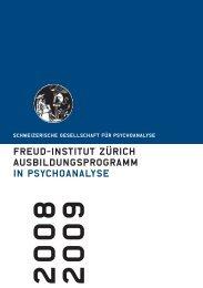 freud-institut Zürich Ausbildungsprogramm in Psychoanalyse