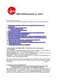 Aktueller Newsletter des Bundesverband alleinerziehender Mütter ...