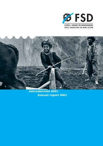 Jahresbericht 2001 Annual report 2001 - FSD