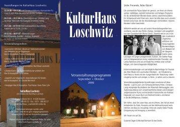 Veranstaltungsprogramm - Kulturhaus Loschwitz