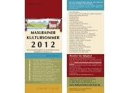 Veranstaltungsprogramm 2012 - Kultursommer - Schlossbrauerei ...