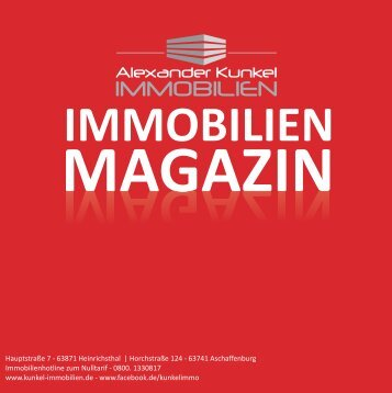 Magazin (Einzelseiten) - Alexander Kunkel Immobilien