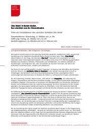 Chto Delat Pressemitteilung 11.Oktober 2011 - Staatliche Kunsthalle ...