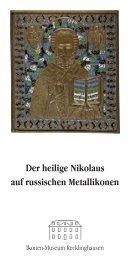 Der heilige Nikolaus auf russischen Metallikonen