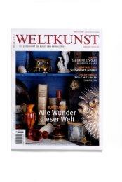 Weltkunst September 2006 - Kunstkammer Georg Laue