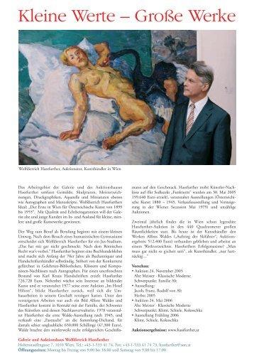 Kleine Werte – Große Werke - KunstNET Österreich