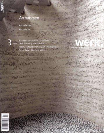 werk, bauen + wohnen 03 / 2008 - Frei + Saarinen