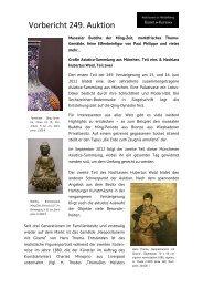 Vorbericht 249. Auktion - Auktionen in Heidelberg - Kunst & Kuriosa