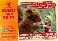 HERBSTFEST! 24.09. – 29.09.12 - Kunst und Spiel