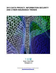2013-Data-Privacy-Information-Security-and-Cyber-Insurance-Trends-Report