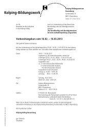 verbindliche Anmeldung - Kolping Bildungswerk