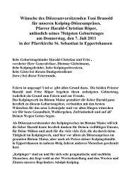 predigt zum 40jährigen priesterjubiläum - Kolping Diözesanverband ...