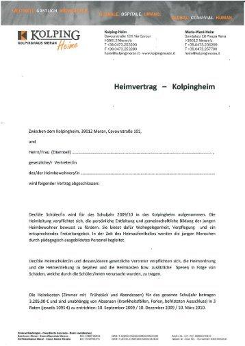 O I N Kolping-Heim Maria-Ward-Heim  - Cavourstraße 101 Via ...