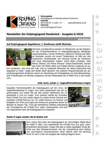 Kolpingjugend-Newsletter Ausgabe 06/2010 (PDF) - KOLPINGWERK