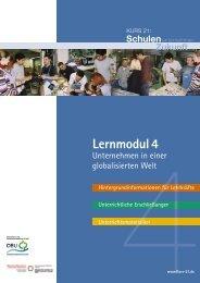 Unternehmen in einer globalisierten Welt - EWIK-Portal