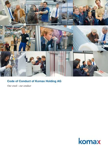 Code of Conduct of Komax Holding AG - Komax Group