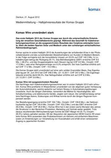 120821 Media Release_D_Final - Komax Group
