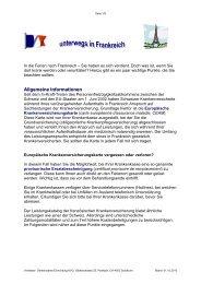 Ferien in Frankreich - Gemeinsame Einrichtung KVG