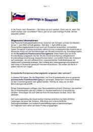 Ferien in Slowenien - Gemeinsame Einrichtung KVG
