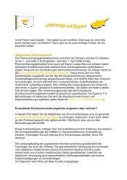 Ferien in Zypern - Gemeinsame Einrichtung KVG