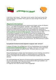 Ferien in Litauen - Gemeinsame Einrichtung KVG