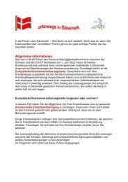 Ferien in Dänemark - Gemeinsame Einrichtung KVG