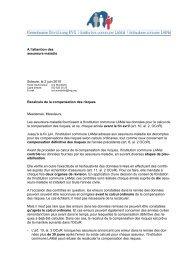 A l'attention des assureurs-maladie Soleure, le 2 juin 2010 ...