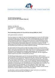 Brief an die Krankenversicherer - Gemeinsame Einrichtung KVG