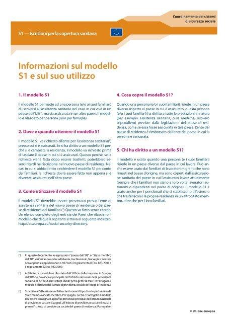 modello s1 assistenza sanitaria