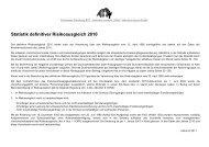 Statistik definitiver Risikoausgleich 2010 - Gemeinsame Einrichtung ...