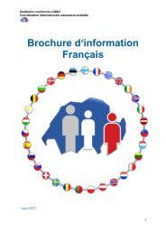 Brochure: les effets de l'Accord sur la - Gemeinsame Einrichtung KVG