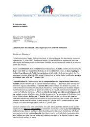 A l'attention des assureurs-maladie Soleure, le 13 décembre 2000 ...