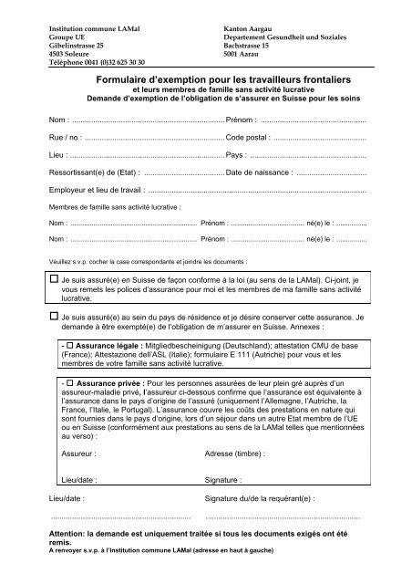 formulaire e401 france