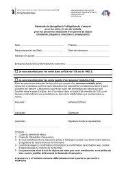Demande d'exemption + feuille d'information - Gemeinsame ...