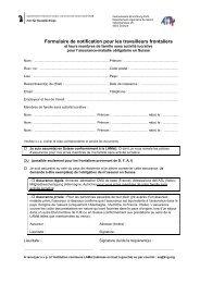 Formulaire de déclaration + feuille d'information - Gemeinsame ...
