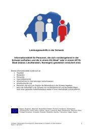 Leistungsaushilfe in der Schweiz - Gemeinsame Einrichtung KVG