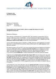 A l'attention des assureurs-maladie Soleure, le 17 août 2010 ...