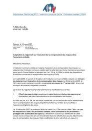 A l'attention des assureurs-maladie Soleure, le 19 mars 2007 ...