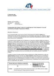 A l'attention des assureurs-maladie Soleure, le 23 avril 2001 ...