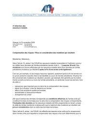 A l'attention des assureurs-maladie Soleure, le 15 novembre 2005 ...