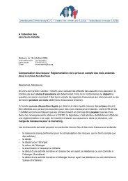 A l'attention des assureurs-maladie Soleure, le 19 octobre 2004 ...