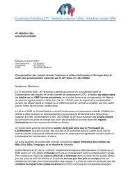 A l'attention des assureurs-maladie Soleure, le 6 avril 2011 ...