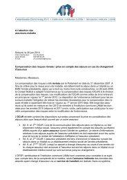 A l'attention des assureurs-maladie Soleure, le 30 juin 2010 ...