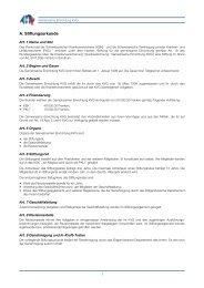 A. Stiftungsurkunde - Gemeinsame Einrichtung KVG