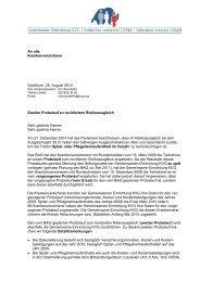 An alle Krankenversicherer Solothurn, 25. August 2010 Zweiter ...