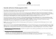 Statistik definitiver Risikoausgleich 2003 - Gemeinsame Einrichtung ...